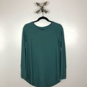 Chaser Women's green thermal sweater size small